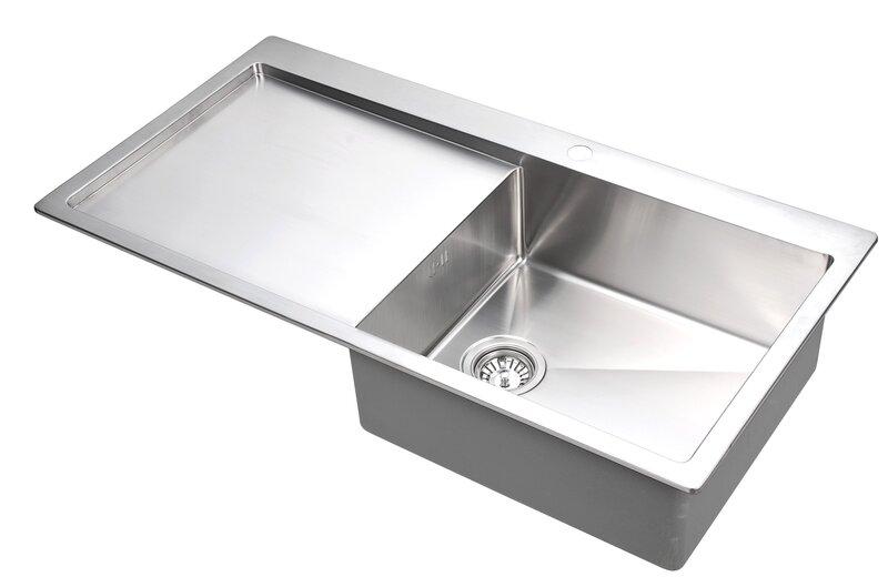 Кухонная раковина LUNA-LUN101M-R цена и информация | Nerūsējoša tērauda izlietnes | 220.lv
