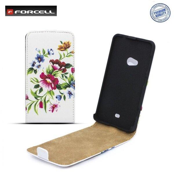 Forcell Slim Flip Pattern vertikāli atverams maks ar zīmējumu Design 2 telefonam Samsung i8260 Galaxy Core cena un informācija | Maciņi, somiņas | 220.lv