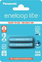 Panasonic Eneloop Lite AAA 550 mAh (HR03) 2gb. Blistera iepakojumā