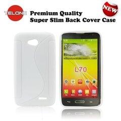 Telone Back Case S-Case gumijots telefona apvalks LG L65 D280 D320 L70 Balts