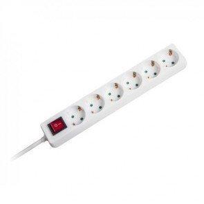 Pagarinātājs KF06K5MJ 6 vietas 5m ar zemējumu, ar slēdzi cena un informācija | Elektriskie pagarinātāji | 220.lv