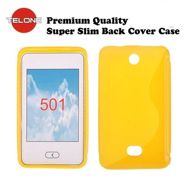 Telone Back Case S-CASE резиновый чехол для мобильного телефона Nokia 501 Asha, Жёлтый