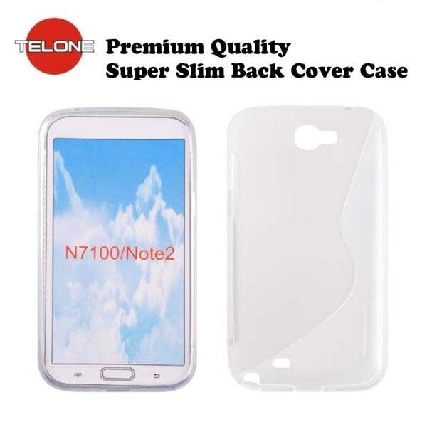Telone Back Case S-CASE gumijots telefona apvalks priekš Samsung N7100 Note 2, Caurspīdigs cena un informācija | Maciņi, somiņas | 220.lv