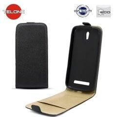 Telone Shine Pocket Slim Flip Case Sony C1905 Xperia M telefona maks vertikāli atverams Melns cena un informācija | Maciņi, somiņas | 220.lv