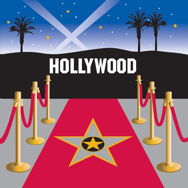 Salvetes Holivuda 16 gab. cena un informācija | Svētku dekorācijas un vienreizlietojamie trauki | 220.lv