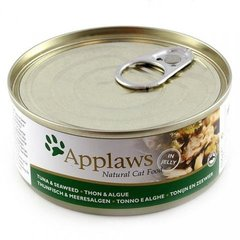 Konservi kaķiem Applaws Cat Tuna Fillet with Seaweed, 156 g