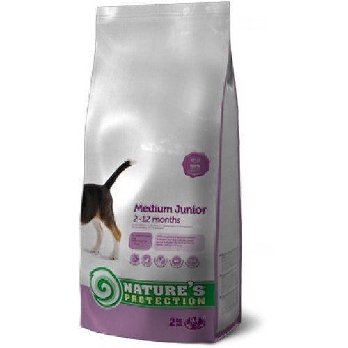 Suņu barība Nature's Protection Medium Junior 0,5 kg cena un informācija | Sausā barība suņiem | 220.lv