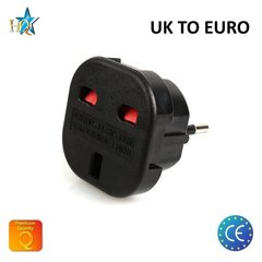 Strāvas ligzdas pāreja UK (United Kingdom) to Europe standart 3pin UK to EU adapter (M-S Blister) cena un informācija | Strāvas ligzdas pāreja UK (United Kingdom) to Europe standart 3pin UK to EU adapter (M-S Blister) | 220.lv