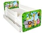 Gulta ar matraci, veļas kasti un noņemamu maliņu Ami 1, 140x70cm cena un informācija | Bērnu gultas | 220.lv