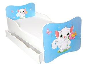 Bērnu gulta ar matraci un veļas kasti Ami 10, 160x80cm