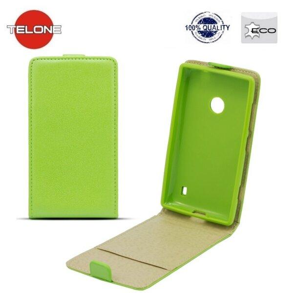 Telone Shine Pocket Slim Flip vertikāli atverams maks telefonam Sony D6503 Xperia Z2, Zaļš cena un informācija | Maciņi, somiņas | 220.lv