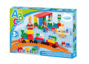 Konstruktors Train with letters Mochtoys