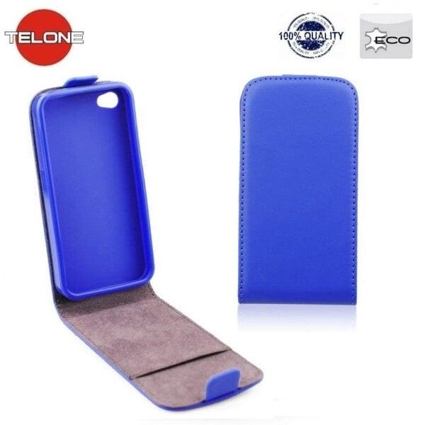 Telone Flexi Slim Flip Apple iPhone 6 4.7inch vertikāli atverams silikona ietvarā Zils cena un informācija | Maciņi, somiņas | 220.lv