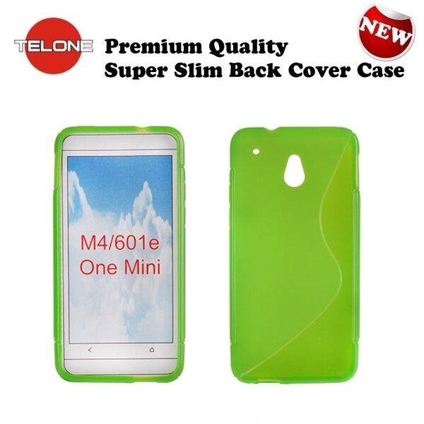 Telone Back Case S-Case gumijots telefona apvalks HTC 601e One Mini M4 Zaļš cena un informācija | Maciņi, somiņas | 220.lv