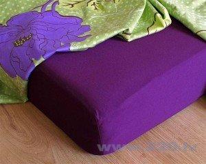 Palags ar gumiju, tumši violets cena un informācija | Palagi | 220.lv