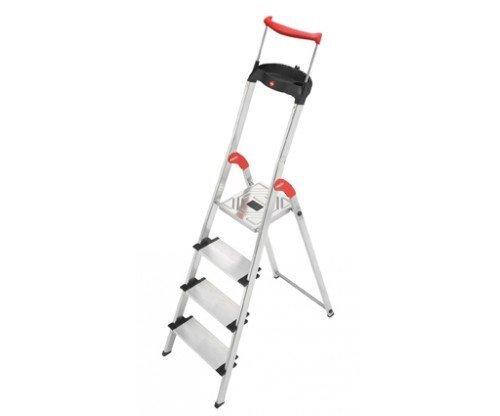 Alumīnija kāpnes ComfortLine XXR, 4 pakāpieniailo 3 pakāpieni Dublikatas [881177] cena un informācija | Kāpnes | 220.lv