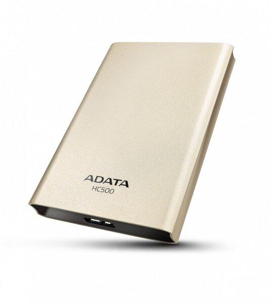 A-data HC500 2TB Gold (Zelts) cena un informācija | HDD - ārējie | 220.lv