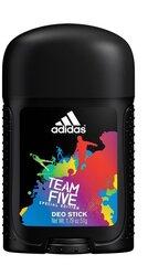 Dezodorants Adidas Team Five 53 ml cena un informācija | Parfimēta vīriešu kosmētika | 220.lv