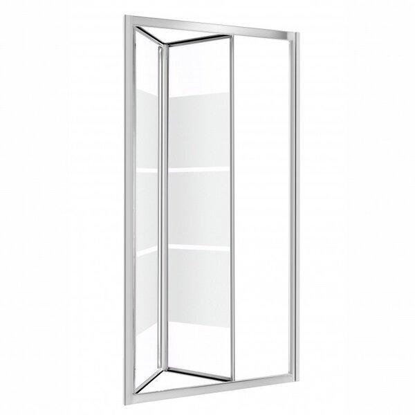 Dušas durvis un niša Kerra Harmony, caurspīdīgas ar svītrām