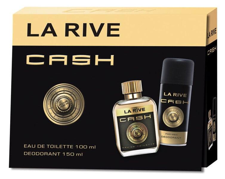Komplekts La Rive Cash: edt 90 ml + dezodorants 150 ml cena un informācija | Vīriešu smaržas | 220.lv