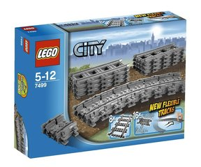 7499 LEGO® City Flexible and Straight Tracks Dzelzceļa sliedes