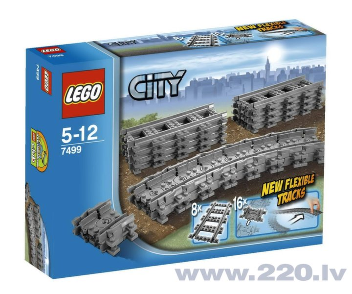 Конструктор Lego City Flexible and Straight Tracks 7499 цена и информация | LEGO | 220.lv