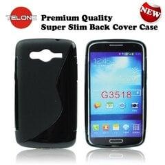 Telone Back Case S-Case gumijots telefona apvalks Samsung G3815 Xpress 2 Melns