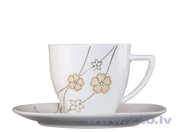 Kafijas servīze Domotti Girlanda, 12 daļas cena un informācija | Glāzes, krūzes, karafes | 220.lv
