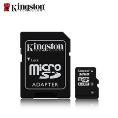 Карта памяти Kingston microSDHC / 32GB / class4 с SD адаптером