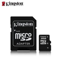 Atmiņas karte Kingston microSDHC / 32GB / class4 ar SD adapteri
