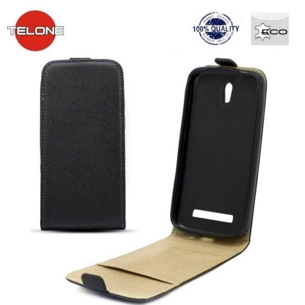 Telone Shine Pocket Slim Flip vertikāli atverams maks telefonam LG D213 L50, Melns cena un informācija | Maciņi, somiņas | 220.lv