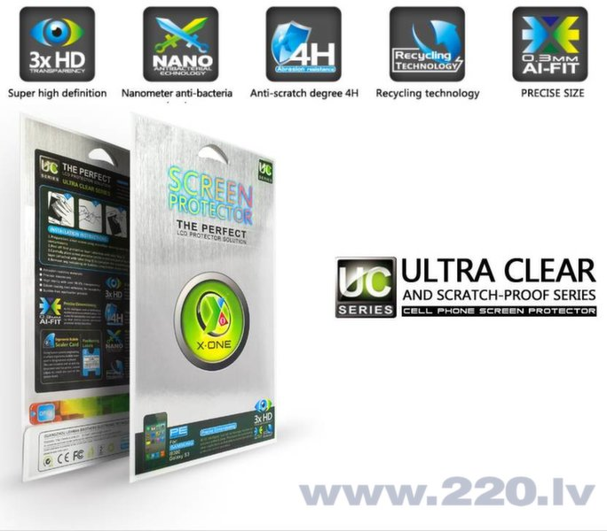 X-One Pro HD Kvalitātes Samsung G850F Galaxy Alpha ekrāna aizsarglēve Glancēta cena un informācija | Ekrāna aizsargplēves | 220.lv