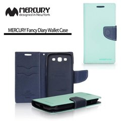 Mercury Fancy Diary Book Case LG Optimus G2 Mini D620 sāniski atverams Divkrāsu zils