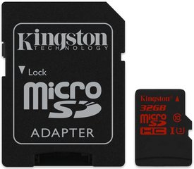 Kingston MicroSDCA 32GB UHS-I U3 + SD adapteris