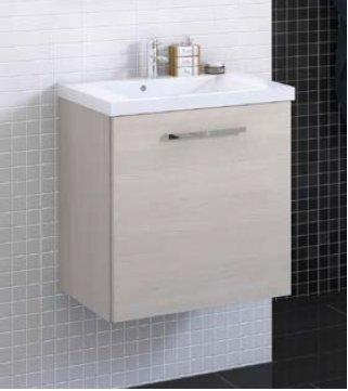 Scandic Vannas istabas skapis ar izlietni cena un informācija | Vannas istabas mēbeles | 220.lv