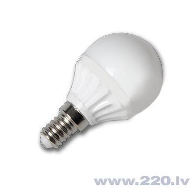 4W LED spuldze 220V Е14 P45 SMD LED (3000K) silta balta cena un informācija | Spuldzes | 220.lv