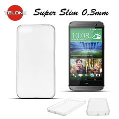 Telone Ultra Slim 0.3mm Back Case HTC One M8 Mini super plāns telefona apvalks Caurspīdīgs