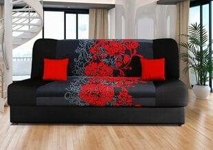 Dīvāns Jas, melns/sarkans cena un informācija | Dīvāns Jas, melns/sarkans | 220.lv