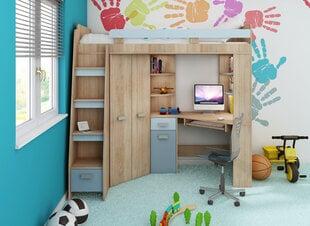 Bērnu istabas komplekts: divstāvu gulta, skapis, rakstamgalds ANTRESOLA L