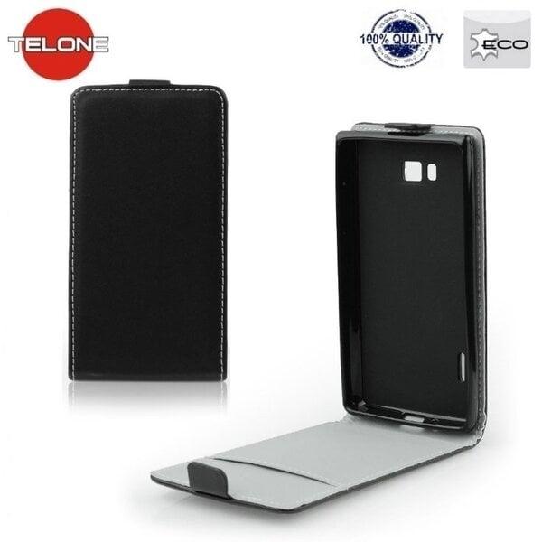 Telone Flexi Slim Flip Sony D2502 D2533 Xperia C3 вертикальная книжка-чехол в силиконовом корпусе Черный цена и информация | Maciņi, somiņas | 220.lv