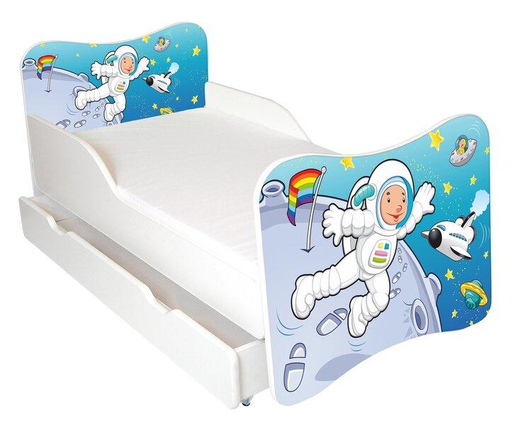Bērnu gulta ar matraci un veļas kasti Ami 48, 140x70 cm cena un informācija | Bērnu istabas mēbeles | 220.lv