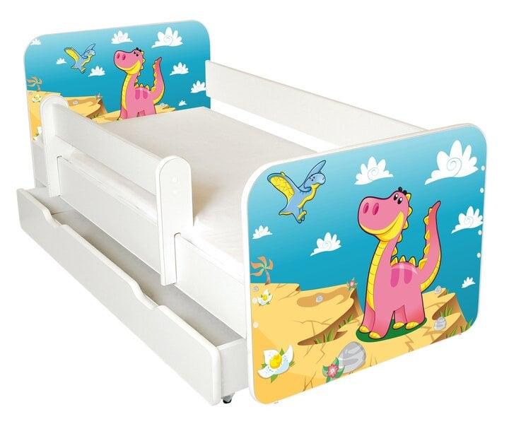 Bērnu gulta ar matraci, veļas kasti un noņemamu maliņu Ami 49, 140x70cm cena un informācija | Bērnu istabas mēbeles | 220.lv