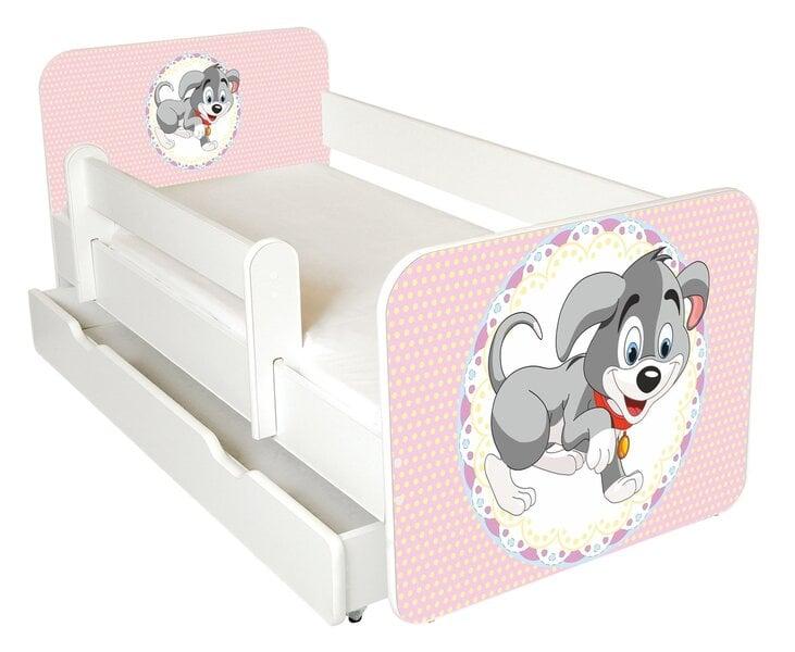 Bērnu gulta ar matraci, veļas kasti un noņemamu maliņu Ami 50, 140x70cm cena un informācija | Bērnu istabas mēbeles | 220.lv