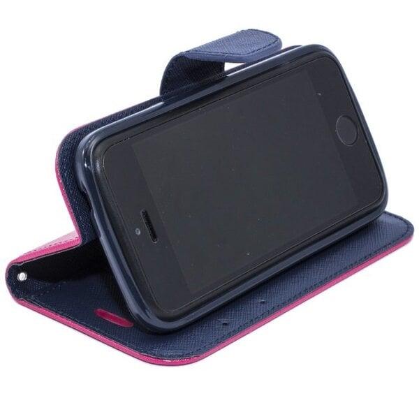 Telone Fancy Diary Book Case ar stendu LG G3 Mini D722 sāniski atverams Rozā/Zils cena un informācija | Maciņi, somiņas | 220.lv