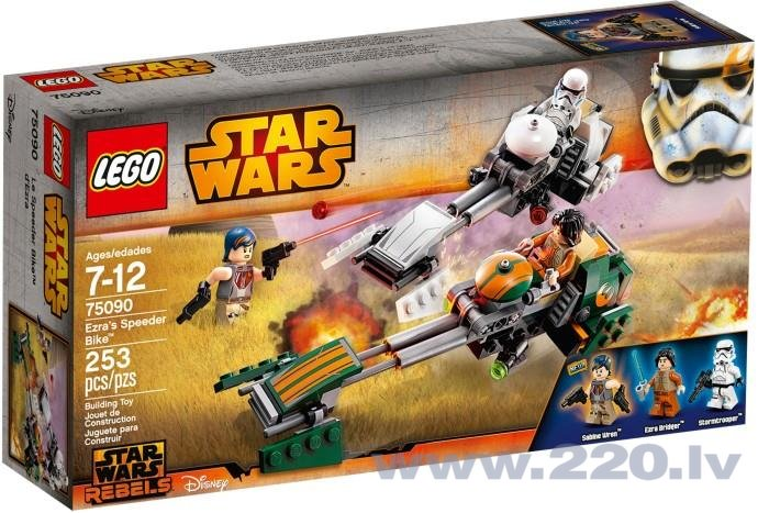 Конструктор Lego Star Wars Ezra's Speeder Bike' 75090 цена и информация | LEGO | 220.lv