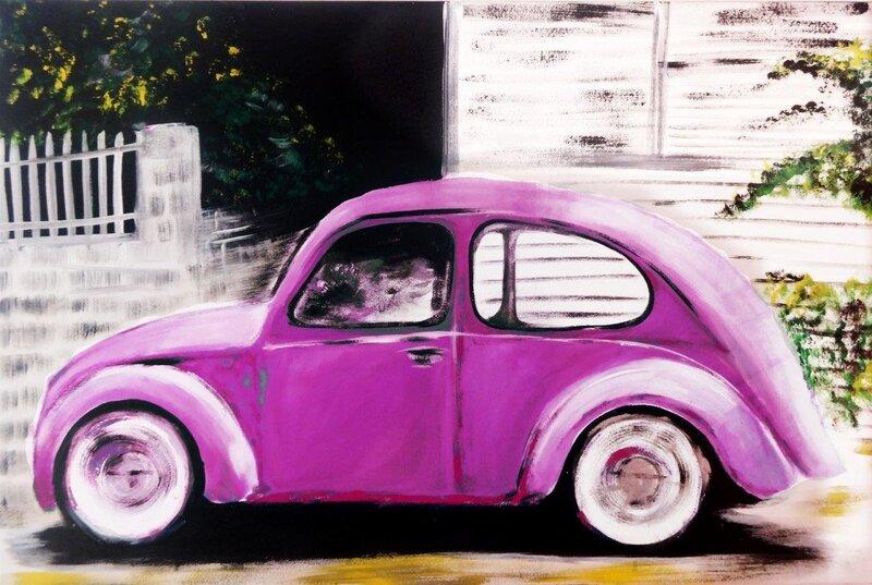 Glezna Violeta automašīna cena un informācija | Gleznas | 220.lv
