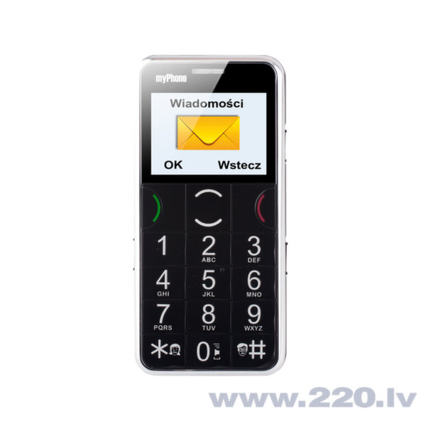 MyPhone 1065 black/chrome (Черный) цена и информация | Mobilie telefoni | 220.lv