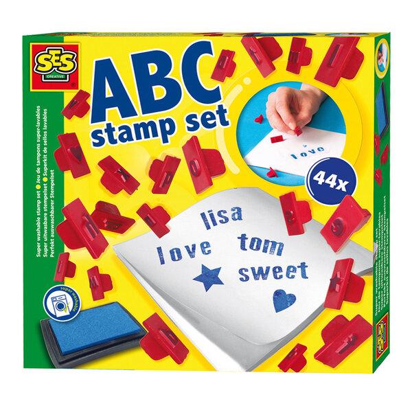 SES Creative - ABC Pastmarku komplekts 00912 cena un informācija | Zinātniskās un attīstošās spēles, komplekti radošiem darbiem | 220.lv