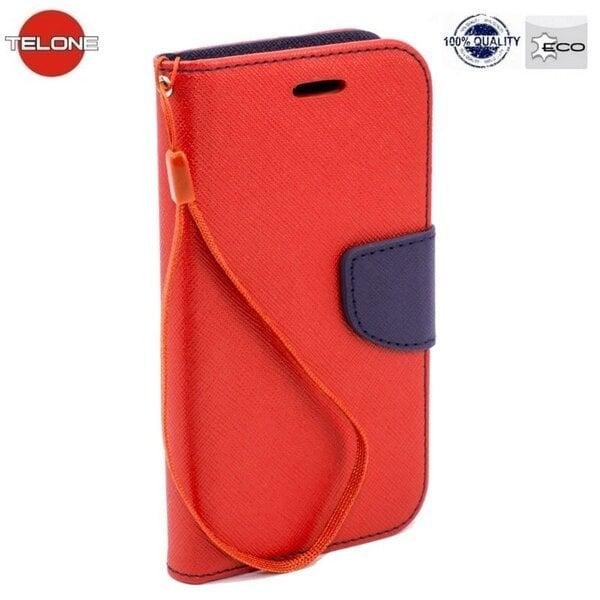 Telone Fancy Diary Book Case ar stendu Sony Xperia Z1 Compact sāniski atverams Sarkans cena un informācija | Maciņi, somiņas | 220.lv