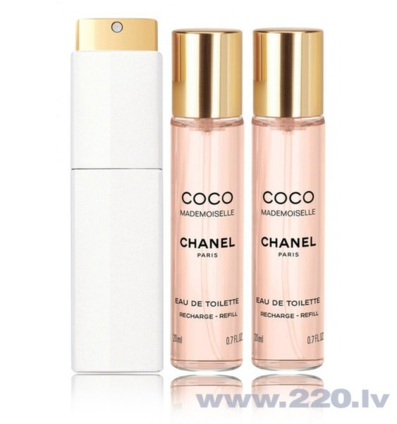 Tualetes ūdens Chanel Coco Mademoiselle edt 3 x 20 ml cena un informācija | Sieviešu smaržas | 220.lv